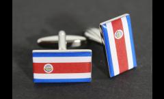 Manschettenknöpfe Flagge Costa Rica - 18 x 12 mm