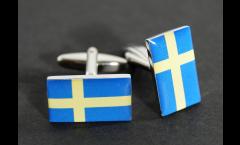 Manschettenknöpfe Flagge Schweden - 18 x 12 mm