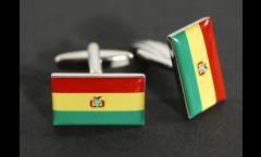 Manschettenknöpfe Flagge Bolivien - 18 x 12 mm