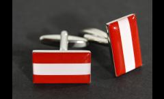 Manschettenknöpfe Flagge Österreich - 18 x 12 mm