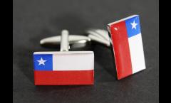 Manschettenknöpfe Flagge Chile - 18 x 12 mm
