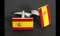 Manschettenknöpfe Flagge Spanien - 18 x 12 mm