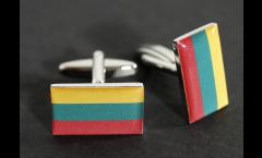 Manschettenknöpfe Flagge Litauen - 18 x 12 mm