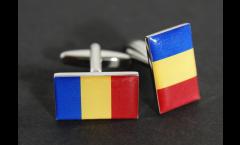 Manschettenknöpfe Flagge Rumänien - 18 x 12 mm