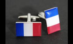 Manschettenknöpfe Flagge Frankreich - 18 x 12 mm