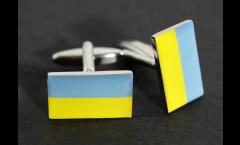 Manschettenknöpfe Flagge Ukraine - 18 x 12 mm