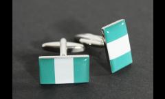 Manschettenknöpfe Flagge Nigeria - 18 x 12 mm
