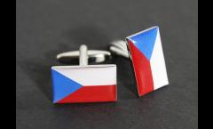 Manschettenknöpfe Flagge Tschechische Republik - 18 x 12 mm