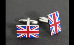 Manschettenknöpfe Flagge Großbritannien - 18 x 12 mm