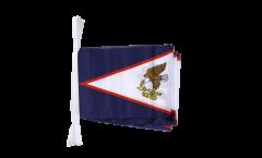 Fahnenkette Amerikanisch Samoa - 15 x 22 cm