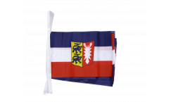 Fahnenkette Deutschland Schleswig-Holstein - 15 x 22 cm