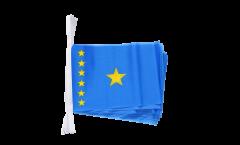 Fahnenkette Demokratische Republik Kongo alt - 15 x 22 cm