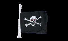 Fahnenkette Pirat mit roten Augen - 15 x 22 cm