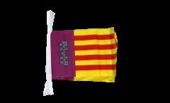 Fahnenkette Spanien Mallorca - 15 x 22 cm