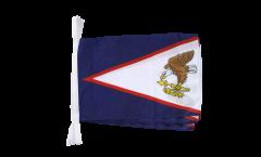 Fahnenkette Amerikanisch Samoa - 30 x 45 cm