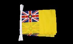 Fahnenkette Niue - 30 x 45 cm