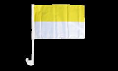 Autofahne Streifen gelb-weiß - 30 x 40 cm