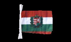 Fahnenkette Ungarn mit Wappen - 30 x 45 cm