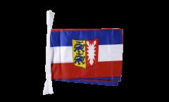 Fahnenkette Deutschland Schleswig-Holstein - 30 x 45 cm