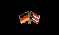 Freundschaftspin Deutschland - Puerto Rico - 22 mm