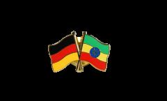 Freundschaftspin Deutschland - Äthiopien - 22 mm