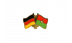 Freundschaftspin Deutschland - Burkina Faso - 22 mm
