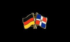 Freundschaftspin Deutschland - Dominikanische Republik - 22 mm