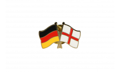 Freundschaftspin Deutschland - England - 22 mm