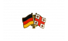 Freundschaftspin Deutschland - Georgien - 22 mm