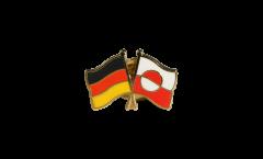 Freundschaftspin Deutschland - Grönland - 22 mm