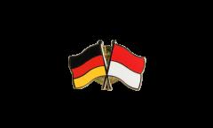 Freundschaftspin Deutschland - Indonesien - 22 mm
