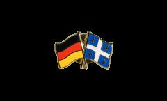 Freundschaftspin Deutschland - Kanada Quebec - 22 mm