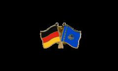 Freundschaftspin Deutschland - Kasachstan - 22 mm