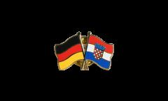 Freundschaftspin Deutschland - Kroatien - 22 mm