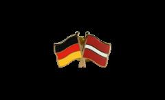 Freundschaftspin Deutschland - Lettland - 22 mm