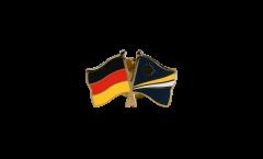 Freundschaftspin Deutschland - Marshall Inseln - 22 mm