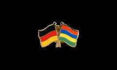 Freundschaftspin Deutschland - Mauritius - 22 mm