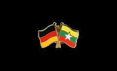 Freundschaftspin Deutschland - Myanmar - 22 mm