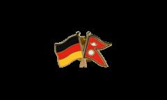 Freundschaftspin Deutschland - Nepal - 22 mm
