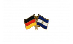 Freundschaftspin Deutschland - Nicaragua - 22 mm