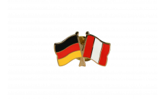 Freundschaftspin Deutschland - Peru - 22 mm