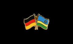 Freundschaftspin Deutschland - Ruanda - 22 mm