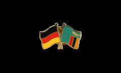 Freundschaftspin Deutschland - Sambia - 22 mm