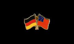 Freundschaftspin Deutschland - Samoa - 22 mm