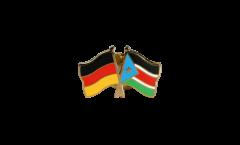 Freundschaftspin Deutschland - Südsudan - 22 mm