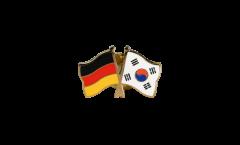 Freundschaftspin Deutschland - Südkorea - 22 mm
