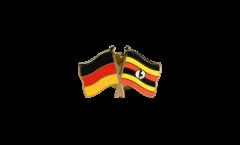 Freundschaftspin Deutschland - Uganda - 22 mm