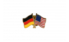 Freundschaftspin Deutschland - USA - 22 mm
