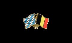 Freundschaftspin Bayern - Belgien - 22 mm