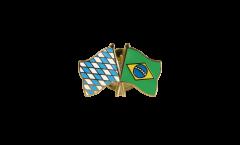 Freundschaftspin Bayern - Brasilien - 22 mm